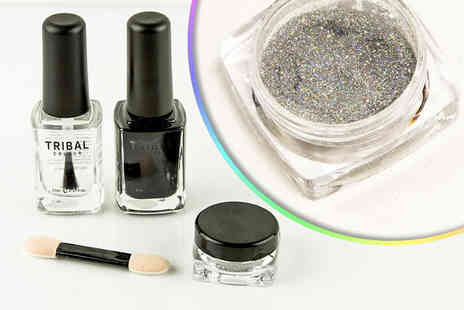 Forever Cosmetics - Magic mirror three step holographic nail polish kit - Save 90%