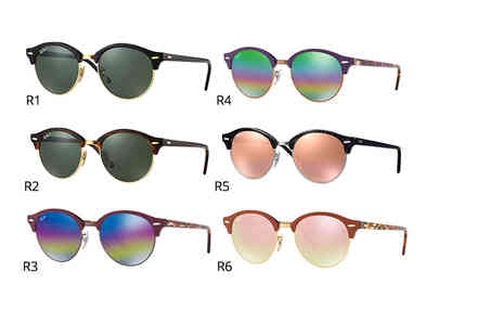 King of Shades - Pair of unisex Ray Ban Clubround sunglasses - Save 41%
