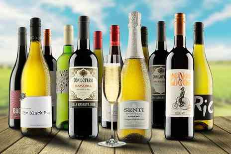 Virgin Wines - 12 bottle selection of boutique wine with Prosecco - Save 65%