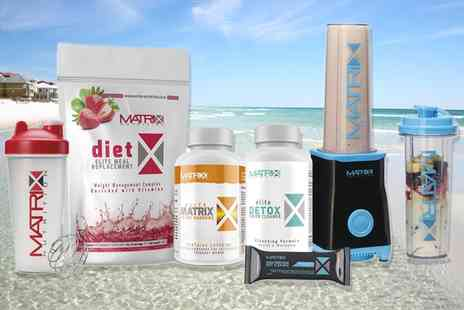 Groupon Goods Global GmbH - Matrix Summer Body Bundle with Protein or Meal Replacement, Flapjack, Colon Cleanse, Weight Support Tablets and Shaker - Save 82%