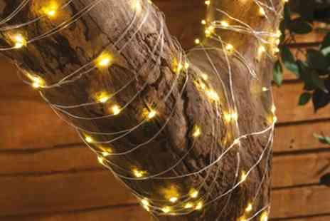 Groupon Goods Global GmbH - 200 LED Solar Copper Wire String Lights - Save 0%