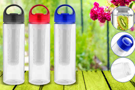 Globi Toys - Fruit Infuser Water Bottle Available in 3 Colours - Save 75%
