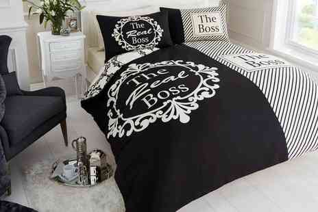 Groupon Goods Global GmbH - The Real Boss Duvet Set - Save 80%