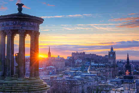 SuperBreak - Two Night Edinburgh Break, Breakfast and Return Train Transfers from 19 Cities - Save 0%