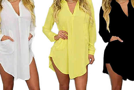 Bazaar me - Oversized Lightweight Chiffon Shirt Available in Three Colours - Save 87%