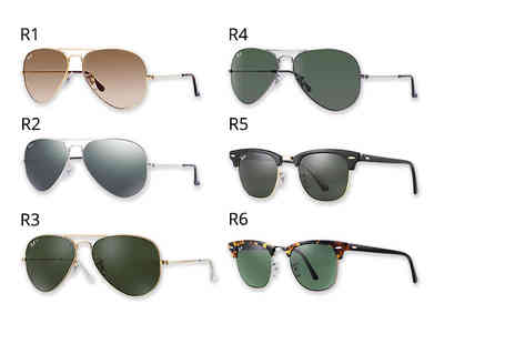 Fashion Eyewear - Pair of Ray Ban sunglasses Choose from five styles - Save 37%