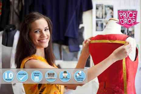Centre of Excellence - Online fashion design and dressmaking diploma course - Save 89%