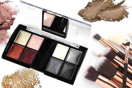 GetGorgeous - Eight colour compact mirror eyeshadow palette with five shade options - Save 75%