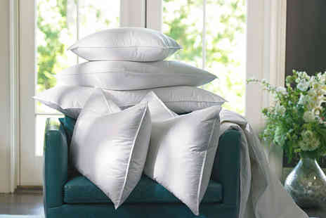 Home Furnishings Company - Four duck feather hotel quality pillows - Save 87%