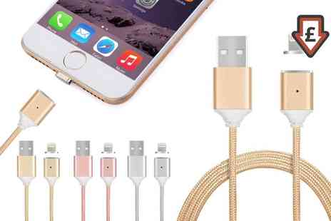 Groupon Goods Global GmbH - Magnetic Charging Cable with Lightning or Micro Usb Connector for Apple and Android Devices - Save 66%