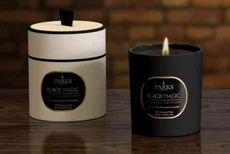 Groupon Goods Global GmbH - One or Two Parks London Gift Boxed Black Magic One Wick Candles - Save 63%