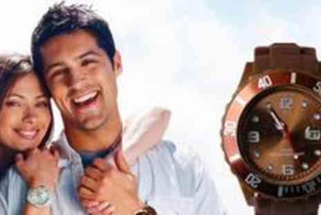 Vivacity Stores - Two trendy unisex jelly watches and choose from twelve bold colours - Save 62%