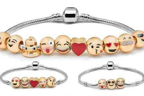 Groupon Goods Global GmbH - Emoji Charms Bracelet with Three, Five or Ten Charms - Save 85%