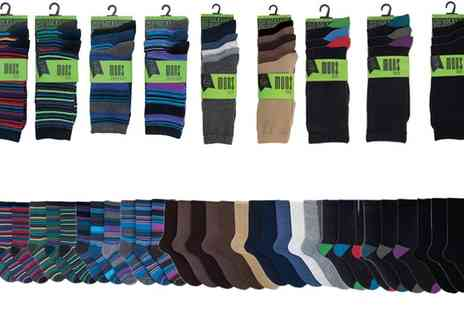 Groupon Goods Global GmbH - 12, 24 or 36 Pack of Mens Assorted Socks - Save 70%