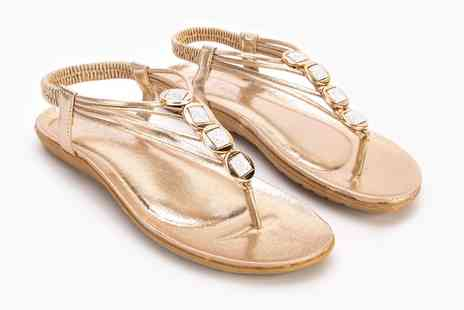 Groupon Goods Global GmbH - Shalimar Jewelled Sandals - Save 0%