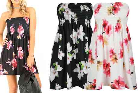 Groupon Goods Global GmbH - Be Jealous Boob Tube Floral Dress Available up to Size 22 - Save 0%