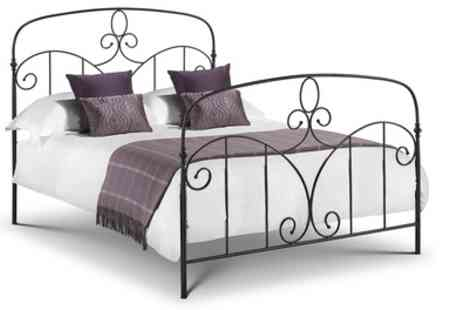 Groupon Goods Global GmbH - Happy Beds Corsican Black Metal Bed With Free Delivery - Save 59%