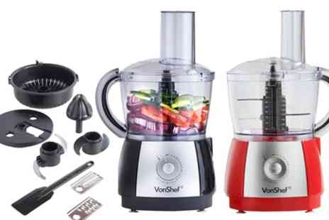 Groupon Goods Global GmbH - VonShef 700W Food Processor with Seven Accessories - Save 50%
