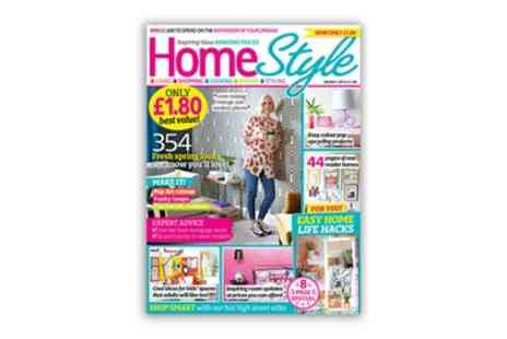 HomeStyle Magazine - One Year Subscription to HomeStyle Magazine with Free Delivery - Save 44%