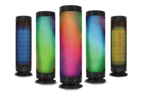 Groupon Goods Global GmbH - Kocaso Rainbow Led Portable Bluetooth T635 Speaker - Save 7%