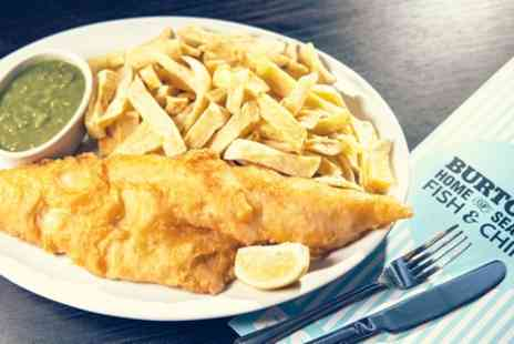 Fish Hut - Fish and Chips With Mushy Peas For Two or Four - Save 19%