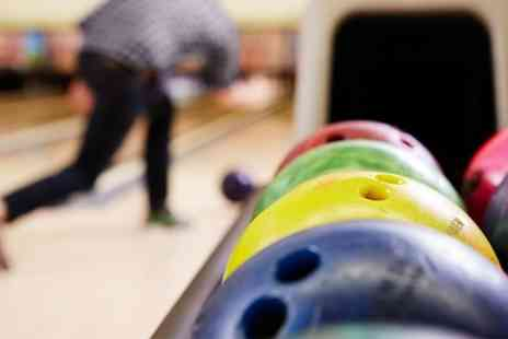 M18 Lanes - Two Games of Bowling with Burger Meal for Two or Four - Save 77%