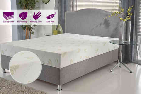 My Mattress Online - Aloe vera Naturalflex memory foam mattress choose from five sizes - Save 84%