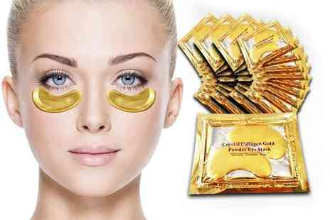 Forever Cosmetics - Set of 40 crystal gold collagen eye masks - Save 94%