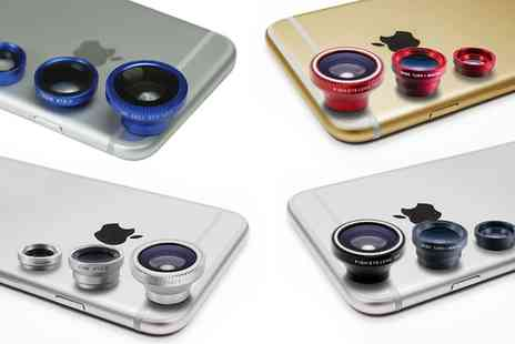Groupon Goods Global GmbH - Three Piece Lens Kit for Smartphones and Tablets - Save 60%