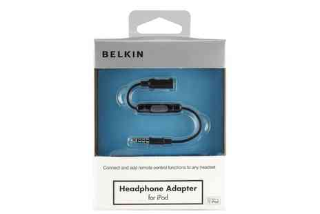 Groupon Goods Global GmbH - Belkin Headphone Adapter for iPod or iPhone - Save 44%