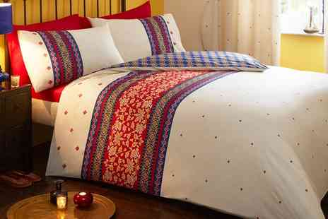 Groupon Goods Global GmbH - Persia Duvet Cover Set or Curtains in Choice of Colour - Save 63%