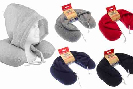 Groupon Goods Global GmbH - One, Two or Three Hooded Travel Neck Pillows - Save 70%