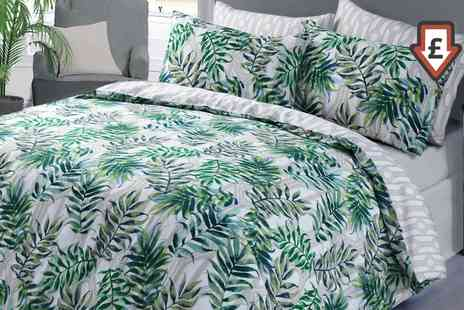 Groupon Goods Global GmbH - Easy Care Reversible Tropical Duvet Cover Sets - Save 74%