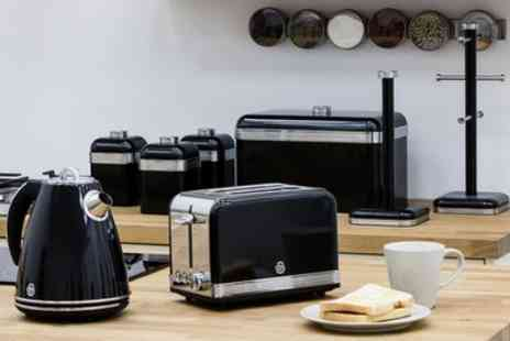 Groupon Goods Global GmbH - Swan Retro Eight Piece Kitchen Set with Kettle in Four Colours With Free Delivery - Save 55%