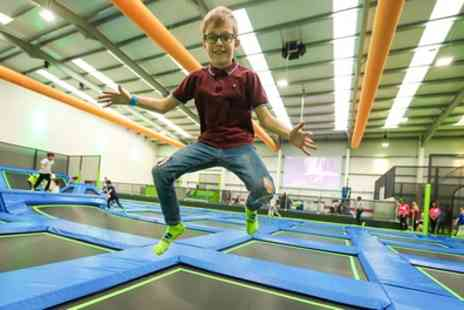 Jump Inc - One Hour Trampoline Park Access for One, Two or Four - Save 30%