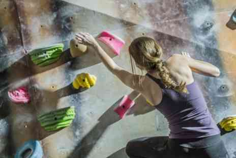 Warehouse Climbing Centre - All Day Bouldering with Shoe Hire and Annual Registration for Up to Four - Save 48%