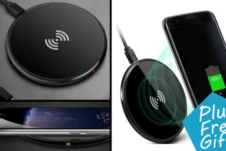 Transformational Capital - Android Wireless Qi Charger with Receiver Kit Plus Choice Of Free Gift - Save 50%