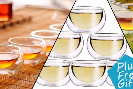 Transformational Capital - 4 units Double Walled Japanese Tea Glasses - Save 0%
