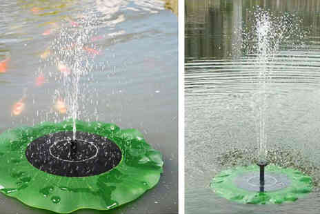 Gagala - Solar Floating Lotus Leaf Fountain - Save 53%