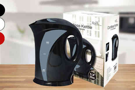 Direct 2 public - 1.7L Electric Cordless Kettle Available 3 Colours - Save 70%
