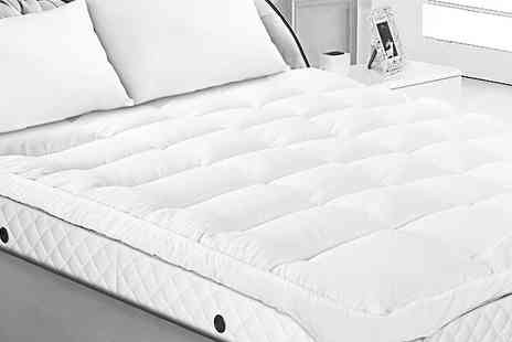 Groundlevel - Luxury four inch bounceback mattress topper choose from four sizes - Save 71%