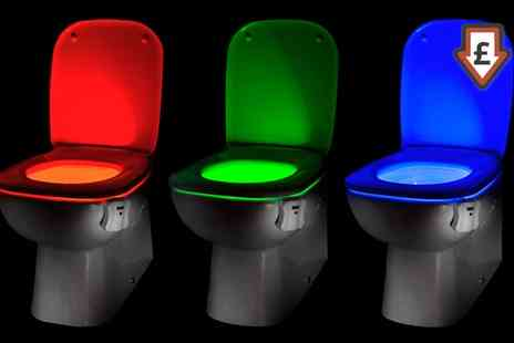 Groupon Goods Global GmbH - Up to Three Auraglow Led Motion Activated Toilet Night Lights - Save 60%