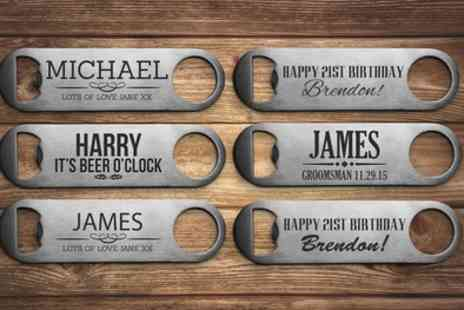 Fabness - One, Two or Three Personalised Bottle Openers - Save 75%