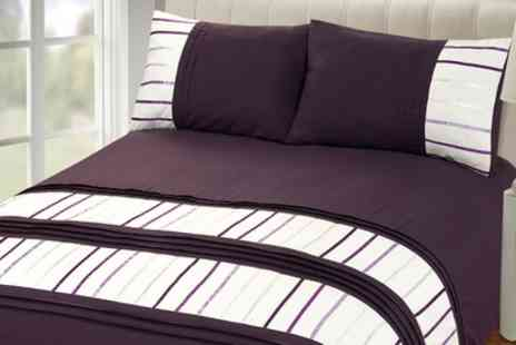 Groupon Goods Global GmbH - Rapport Home Brooklyn Duvet Cover Set in Choice of Colour - Save 63%