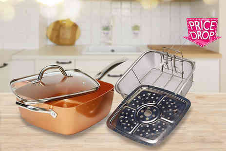 Groundlevel - 4 in 1 multi purpose non stick copper pan - Save 70%