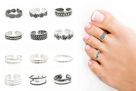 Alvis Fashion - Set of 12 toe and finger rings - Save 83%