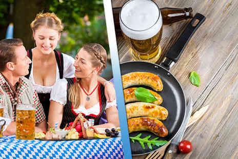 Oktoberfest - Two tickets to Nottingham or Birmingham Oktoberfest including a bratwurst with fries and half a pint of German beer each - Save 48%