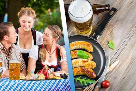 Oktoberfest - Two tickets to Oktoberfest in a choice of four locations including a bratwurst with fries and half a pint of German beer each - Save 44%