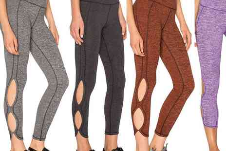 Who Runs the World - Pair of cut out workout leggings choose from two colours - Save 78%