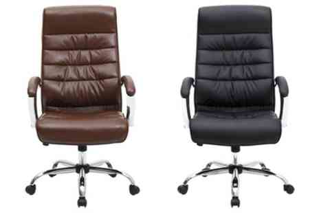 Groupon Goods Global GmbH - Mexico Faux Leather Office Chair With Free Delivery - Save 56%